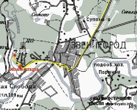 Карта схема проезда: