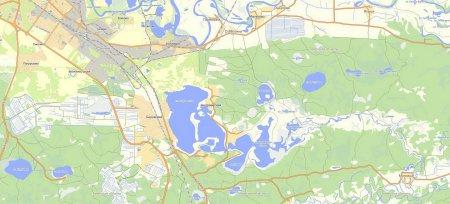 Андреевские озера у поселков Андреевский и Боровский